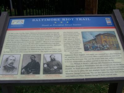 Baltimore Riot Trail Marker Photo, Click for full size