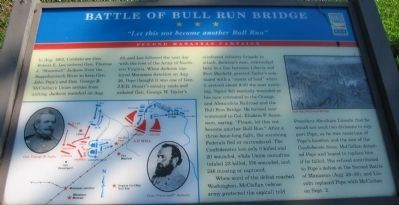 Battle of Bull Run Bridge Marker Photo, Click for full size