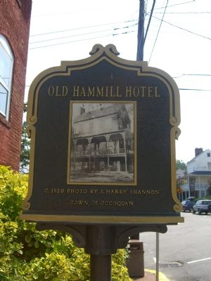 Old Hammill Hotel Marker (Reverse) image. Click for full size.