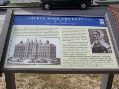 Church Home and Hospital Marker image. Click for full size.