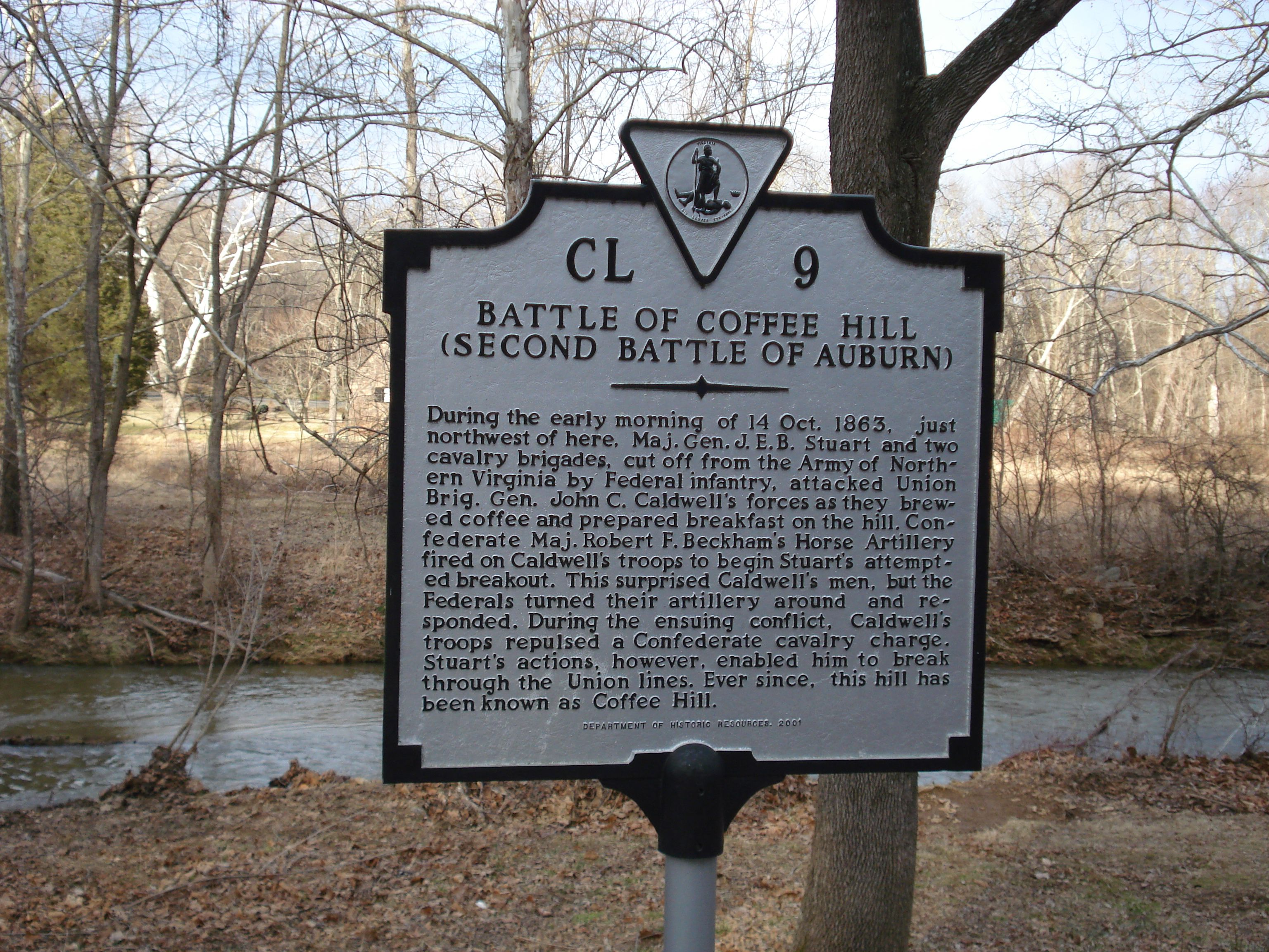 Battle of Coffee Hill Marker
