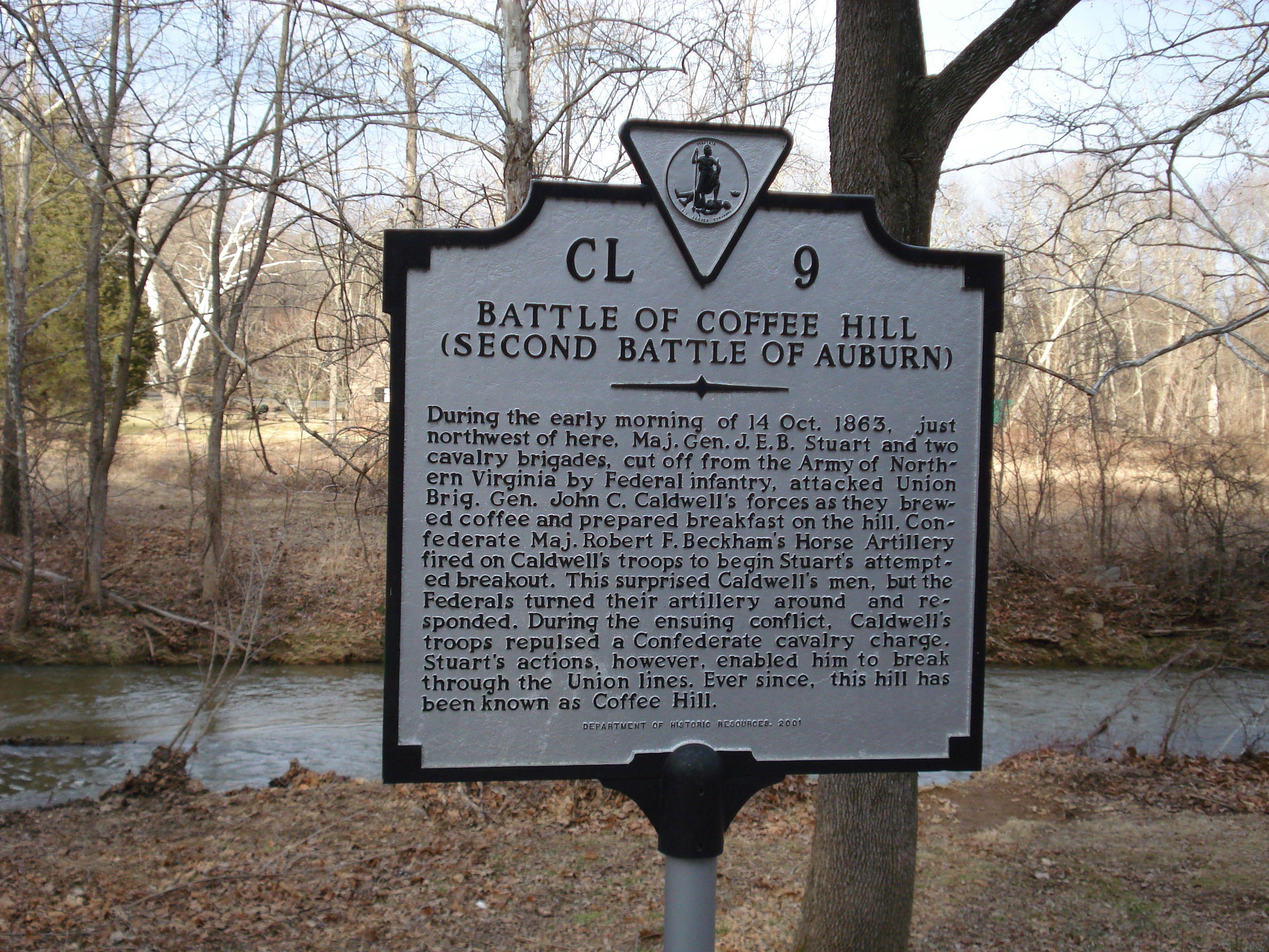 Battle of Coffee Hill Marker