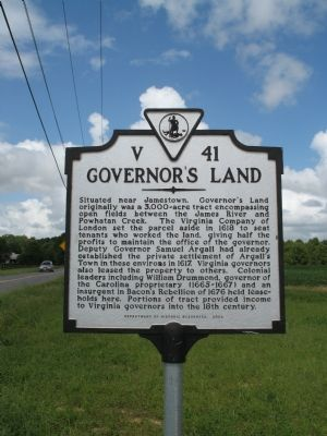 Governor's Land Marker image. Click for full size.