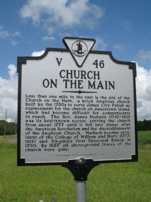 Church on the Main Marker Photo, Click for full size