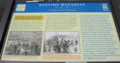 Wartime Manassas - Prelude to First Manassas Marker image. Click for full size.