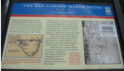 The Ben Lomond Manor House Marker image. Click for full size.