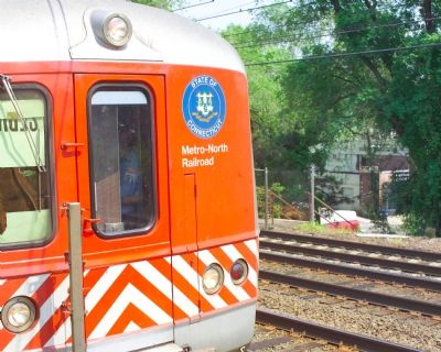 Connecticut emblem on train Photo, Click for full size