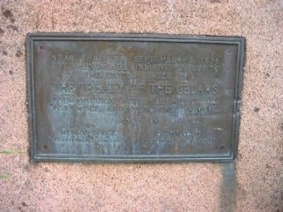 Nearby Marker -- The Treaty of the Cedars image. Click for full size.