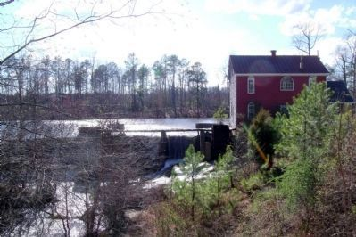 Armstrong's Mill on Hatcher's Run 2 miles downstream from the marker. Photo, Click for full size