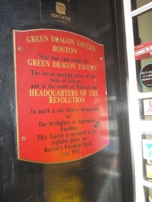 Green Dragon Tavern Marker image. Click for full size.
