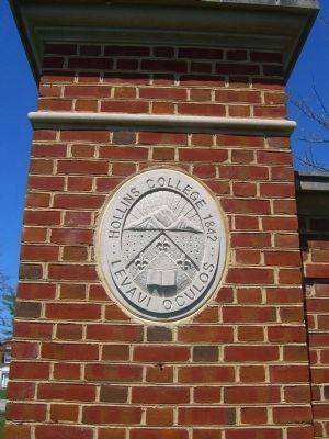 Hollins University Logo at the entrance Photo, Click for full size