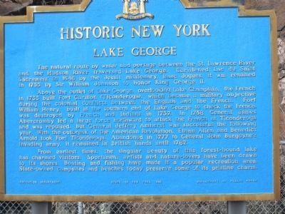 Lake George Marker image. Click for full size.