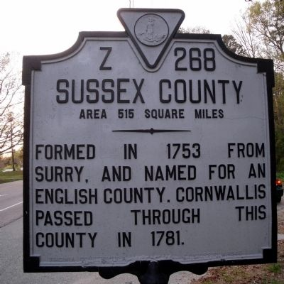 Sussex County Marker Photo, Click for full size