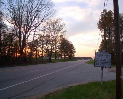 Sussex County / Southampton County Marker on US Rte 460 (facing west). Photo, Click for full size