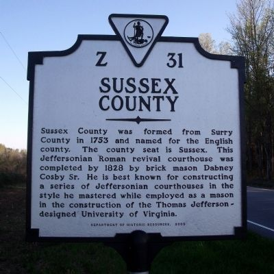 Sussex County Marker image. Click for full size.