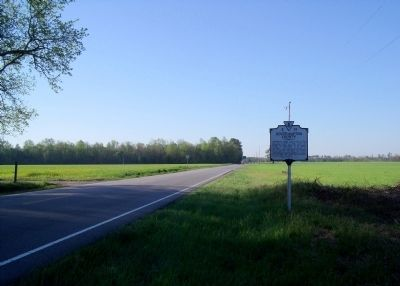 Southampton County / Sussex County Marker on Plank Rd (facing south). image. Click for full size.