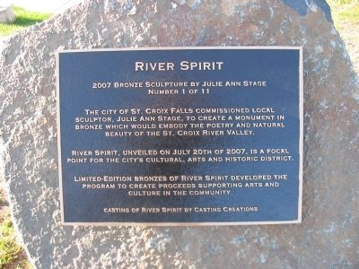 River Spirit Marker Photo, Click for full size