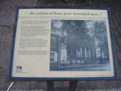 """...the pathos of those poor wounded men..."" Marker Photo, Click for full size"