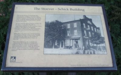The Stoever - Schick Building Marker image. Click for full size.