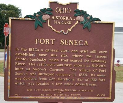 Fort Seneca Marker image. Click for full size.