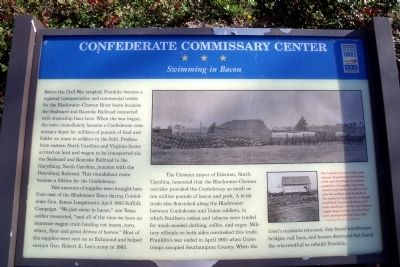 Confederate Commissary Center CWT Marker image. Click for full size.