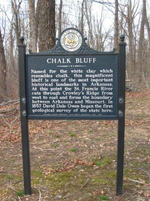 Chalk Bluff Marker image. Click for full size.