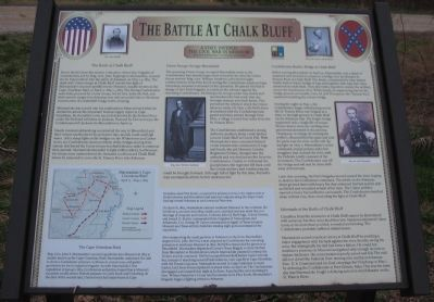 The Battle at Chalk Bluff Marker image. Click for full size.