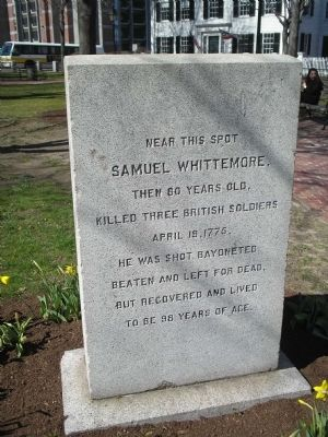 Samuel Whittemore Marker Photo, Click for full size