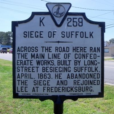 Siege of Suffolk Marker image. Click for full size.