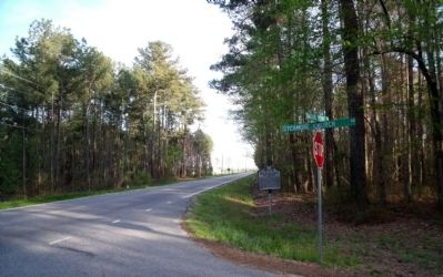 William Mahone's Birthplace Marker on US Rte 258 (facing south). image. Click for full size.