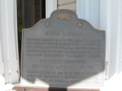 Gable Mansion Marker image. Click for full size.