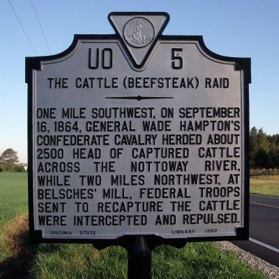 The Cattle (Beefsteak) Raid Marker image. Click for full size.