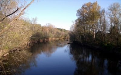 The Nottoway River (one mile southwest) image. Click for full size.