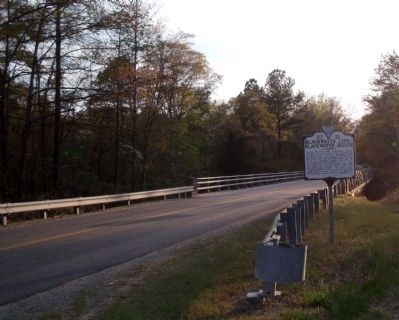 Blackwater Bridge Marker (facing west) image. Click for full size.