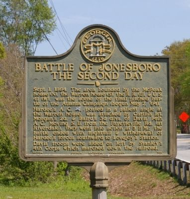 Battle of Jonesboro The Second Day Marker image. Click for full size.