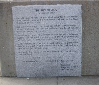 """The Holocaust"" Marker image. Click for full size."