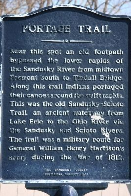 Portage Trail Marker image. Click for full size.