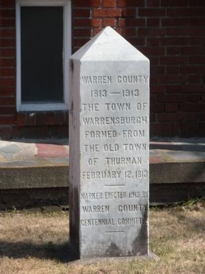 The Town of Warrensburgh Marker image. Click for full size.