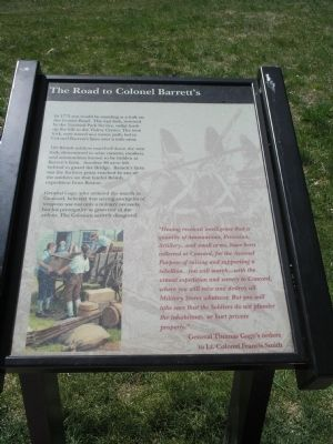 The Road to Colonel Barrett's Marker image. Click for full size.