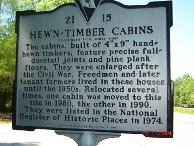 Hewn-Timber Cabins Marker image. Click for full size.
