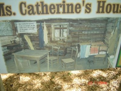 Ms. Catherine's House Information Sign image. Click for full size.