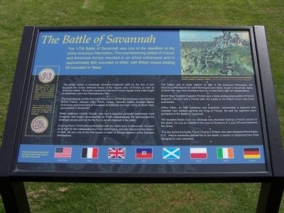 The Battle of Savannah Marker (west) image. Click for full size.