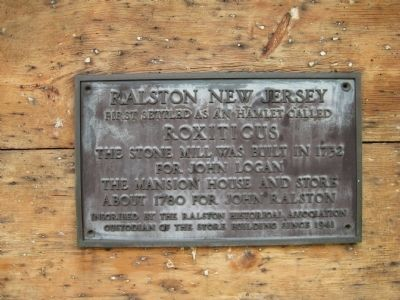 Ralston New Jersey Marker Photo, Click for full size