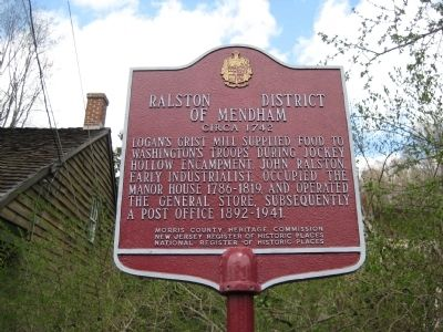 Ralston District of Mendham Marker Photo, Click for full size