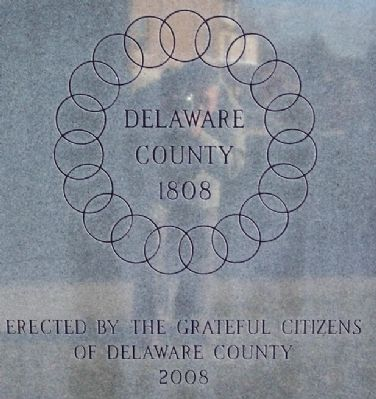 Delaware County War on Terrorism Memorial Reverse image. Click for full size.