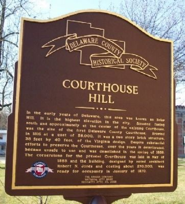 Courthouse Hill Marker (Side A) image. Click for full size.
