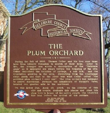 The Plum Orchard Marker (Side B) image. Click for full size.