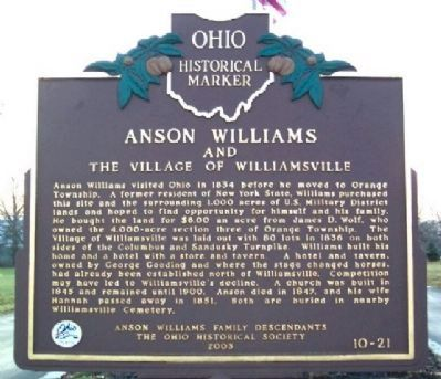 Anson Williams Marker (Side B) image. Click for full size.