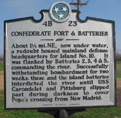 Confederate Forts & Batteries Marker Photo, Click for full size