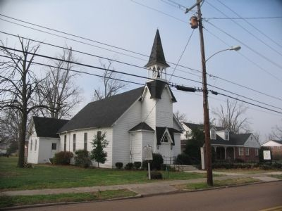 Tiptonville Presbyterian Church and Marker image. Click for full size.